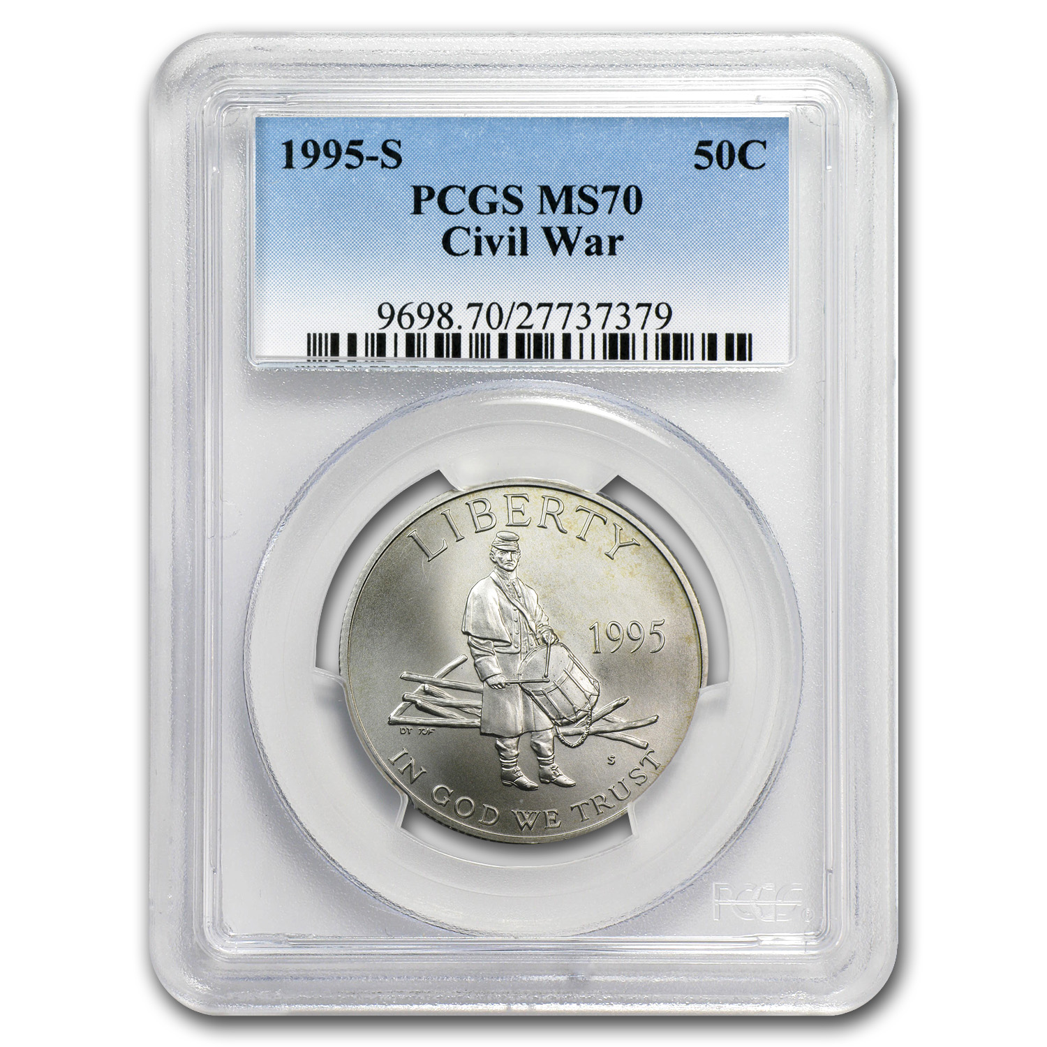 1995-S Civil War Half Dollar Clad Commem MS-70 PCGS